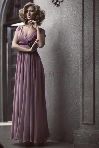вечернее платье из шелка