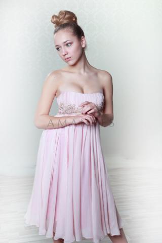 платье коктейльное из шифона