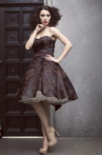 коктельное платье из натурального шелка